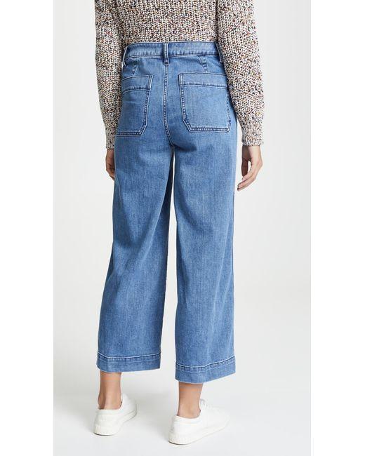 986f9b41f4c ... Madewell - Blue Emmett Crop Wide Leg Jeans - Lyst ...