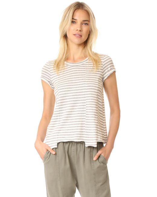 Wilt | Gray Baby Fractured Striped Short Sleeve Tee | Lyst