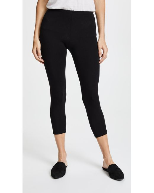 Splendid - Black Classic Capri Leggings - Lyst