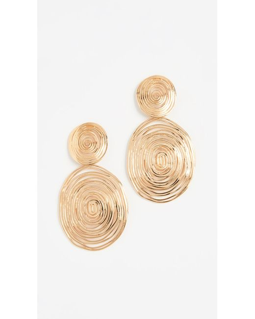 Gas Bijoux - Metallic Wave Large Earrings - Lyst