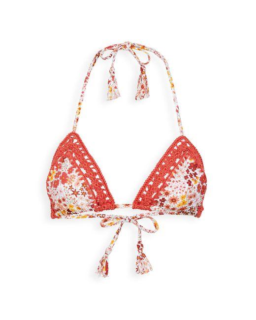 Tigerlily Women's Red Dalia Tara Bikini Top