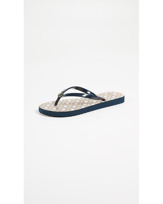 Tory Burch - Blue Thin Flip Flops - Lyst