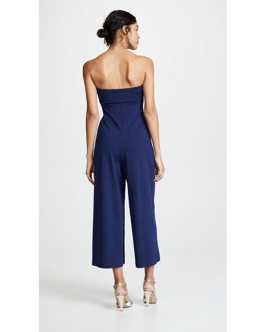 c3349f08ed73 ... Susana Monaco - Blue Cinch Front Jumpsuit - Lyst ...