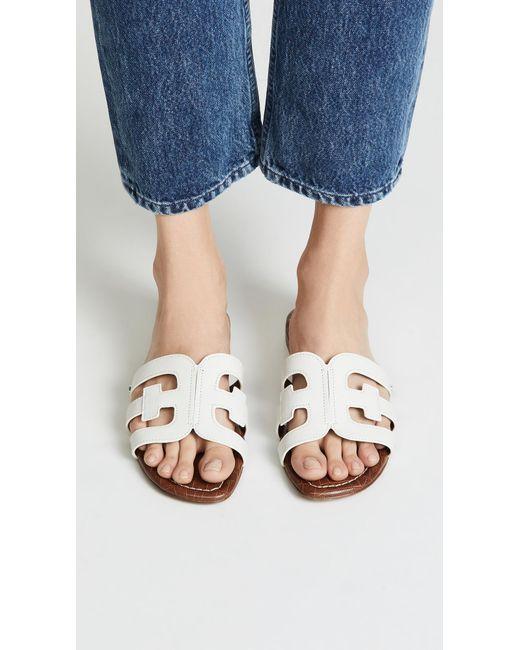 Sam Edelman Women's White Bay Slides