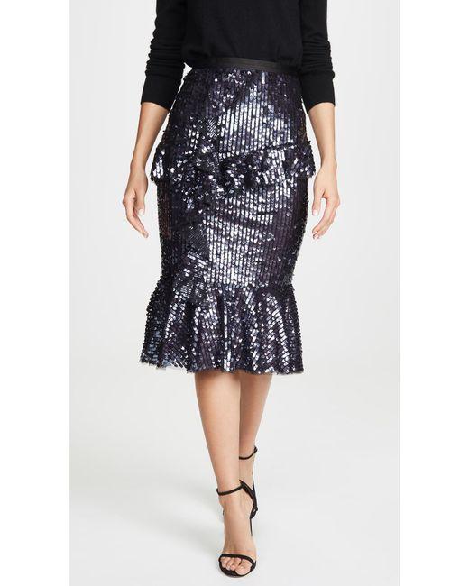 Needle & Thread Multicolor Scarlett Sequin Midi Skirt