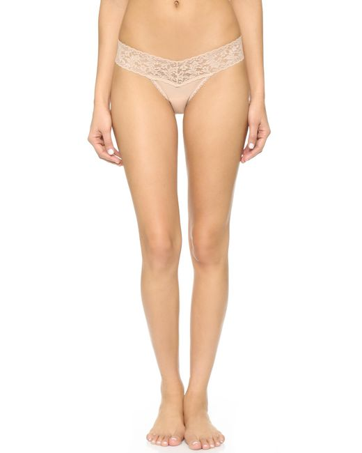 Hanky Panky | Natural Cotton With A Conscience Petite Low Rise Thong - Black | Lyst