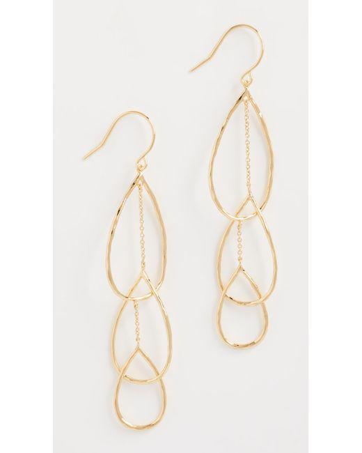 Gorjana | Metallic Interlocking Tear Drop Earrings | Lyst