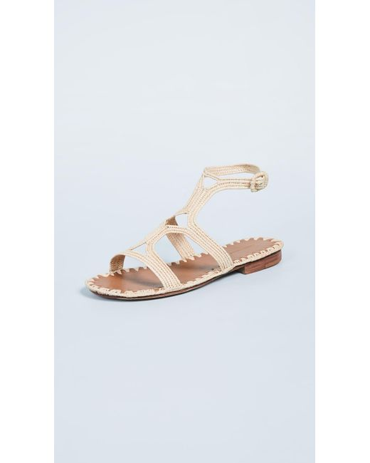 8bf7c358ddc9e Carrie Forbes - Natural Hind Sandals - Lyst ...
