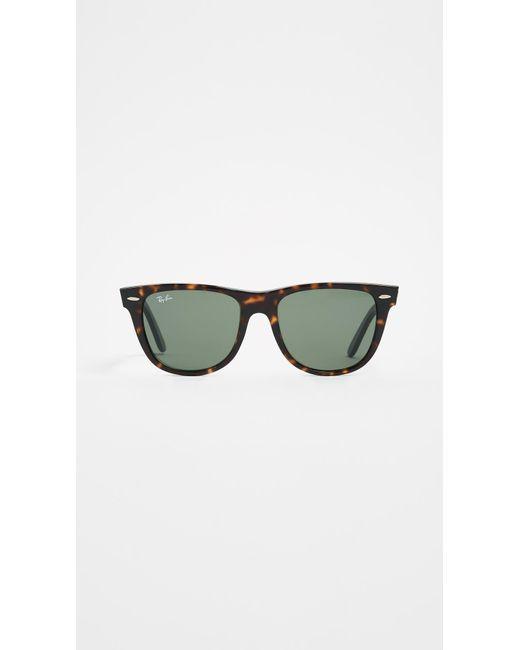Ray-Ban Green Rb2140 Wayfarer Outsiders Oversized Sunglasses