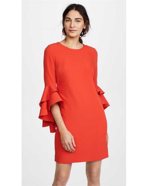 MILLY | Red Italian Cady June Dress | Lyst
