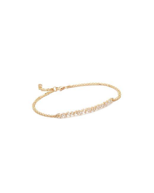 Suzanne Kalan Metallic Fireworks 18k Gold Vertical Diamond Baguette Bracelet