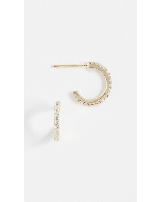 Shashi Metallic Mini Hoop Earrings