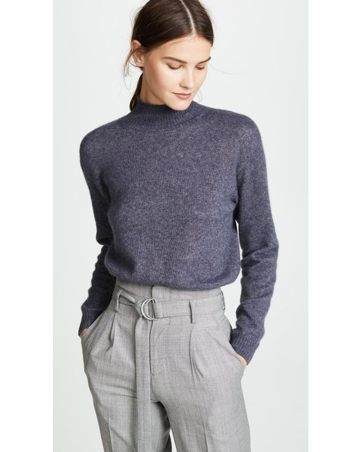 Adam Lippes - Blue Cropped Sweater - Lyst