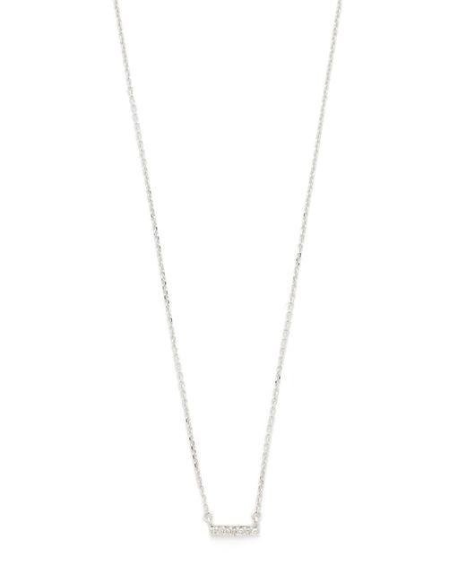 Adina Reyter | Metallic Super Tiny Pave Bar Necklace | Lyst