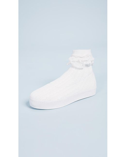 White Bobby Lace Sneakers Opening Ceremony ABnJxYN