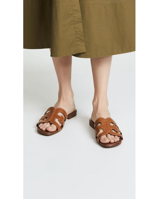 half off buy hot products Sam Edelman Bay Slides in Brown - Lyst