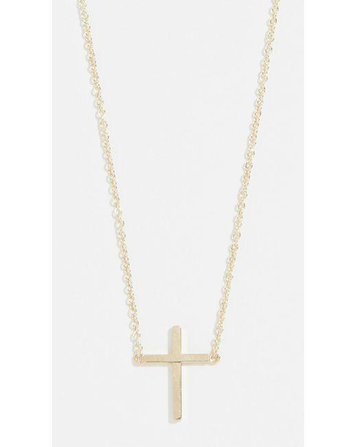 Jennifer Meyer Metallic Thin Cross Necklace