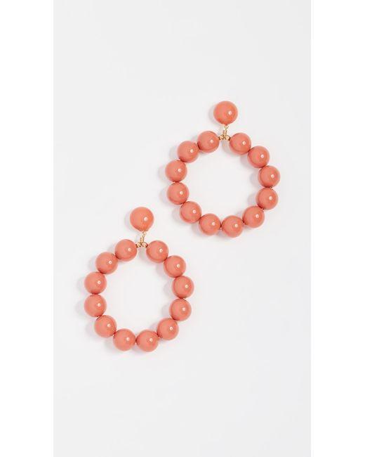 Kenneth Jay Lane - Multicolor Balls Hoop Earrings - Lyst