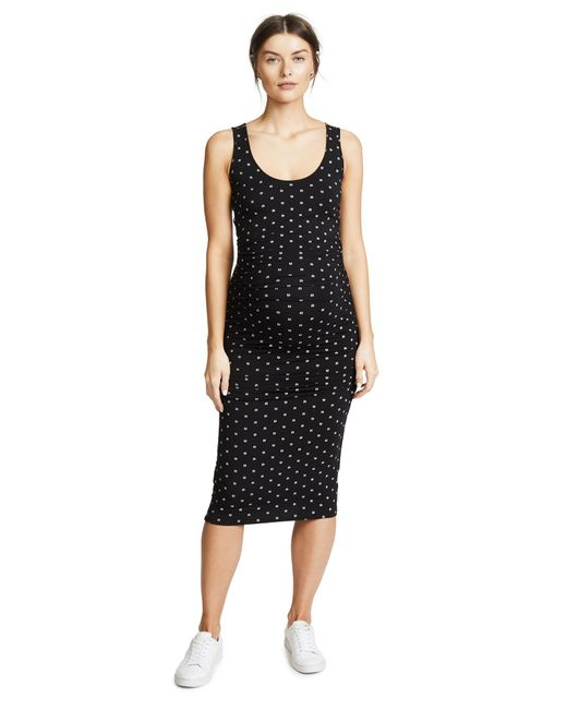 Ingrid & Isabel Black Side Shirred Midi Dress