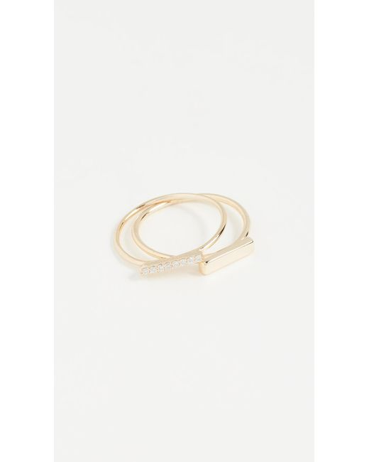 Shashi - Metallic Cora Ring Set - Lyst