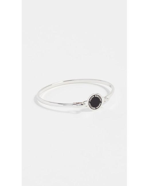 Marc Jacobs | Metallic Enamel Logo Disc Hinge Bracelet | Lyst