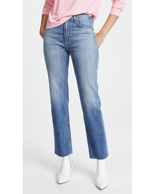 Rag & Bone - Blue The Straight Leg Jeans - Lyst
