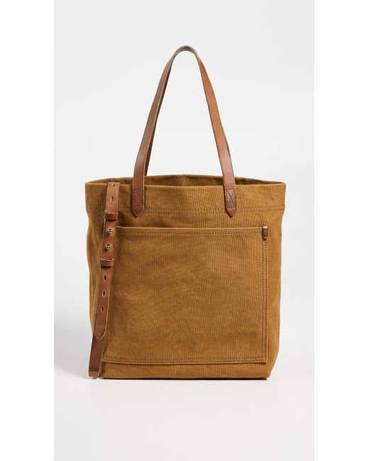 Madewell - Multicolor Medium Transport Tote In Canvas - Lyst