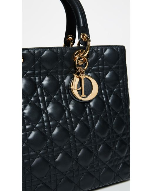 ... What Goes Around Comes Around - Black Dior Lady Dior Bag - Lyst ... 8600bd78fc390
