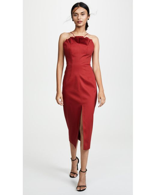 c4dfa8df60ea C meo Collective - Red Only With You Midi Dress - Lyst ...