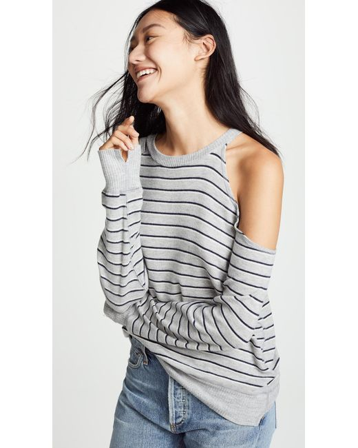LNA - Gray Brushed Flynn Sweater - Lyst