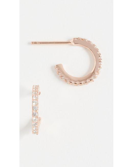 Shashi - Pink Mini Hoop Earrings - Lyst