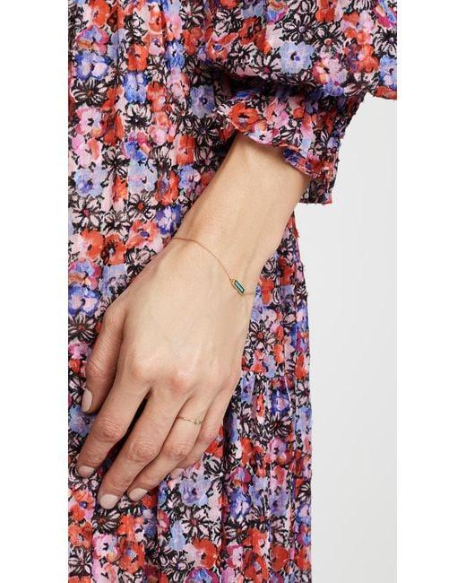 Jennifer Meyer Metallic Inlay Short Bar Bracelet