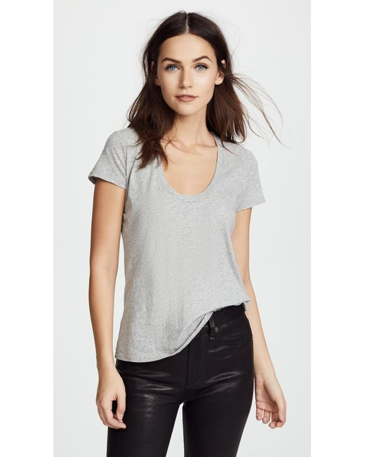 James Perse - Gray Casual Tee - Lyst