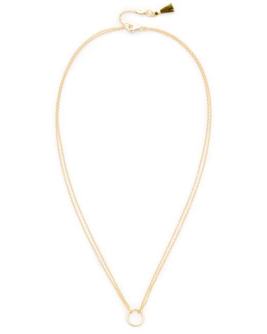 Shashi | Metallic Circle Necklace | Lyst