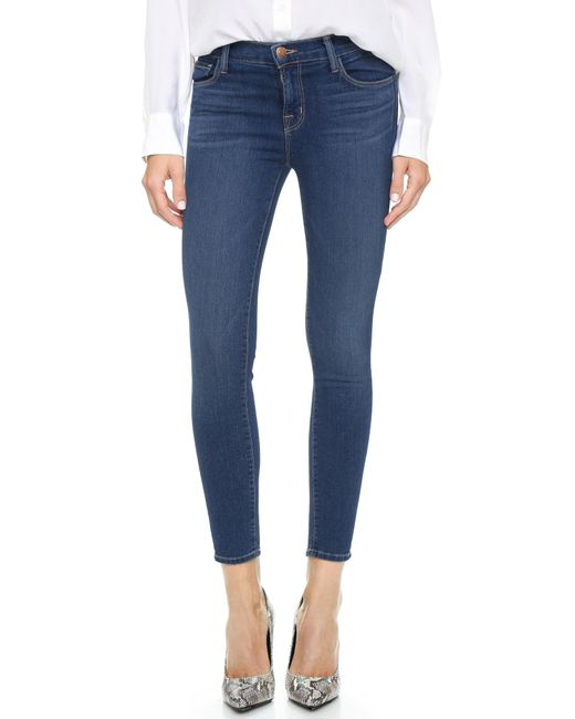 J Brand | Blue 835 Mid Rise Crop Jeans | Lyst