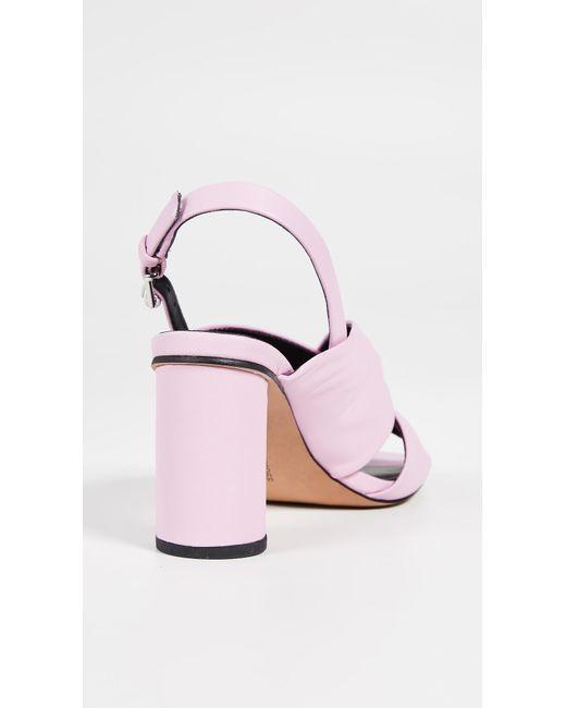 97106bbbdab ... Rebecca Minkoff - Pink Agata Block Heel Slingback Sandals - Lyst ...