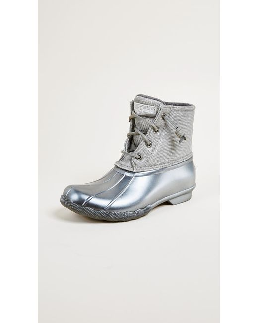 Lyst Sperry Top Sider Saltwater Pearlized Rain Boots
