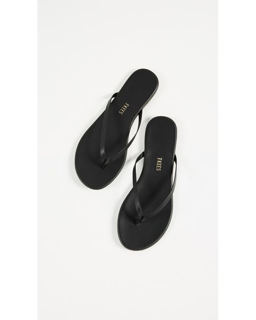 Tkees Leather Liners Flip Flops In Black - Lyst-7443