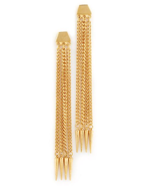 Ben-Amun   Metallic Six Chain Drop Earrings   Lyst