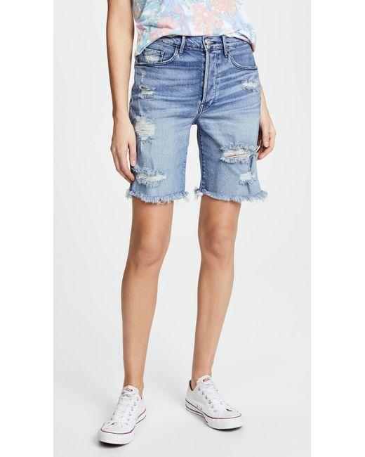 3x1 - Blue Ryder Knee Shorts - Lyst