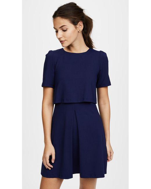 Susana Monaco - Blue Jana Pleat Dress - Lyst