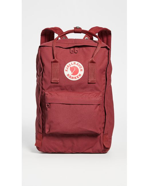 "Fjallraven Red Kanken 15"" Laptop Backpack"
