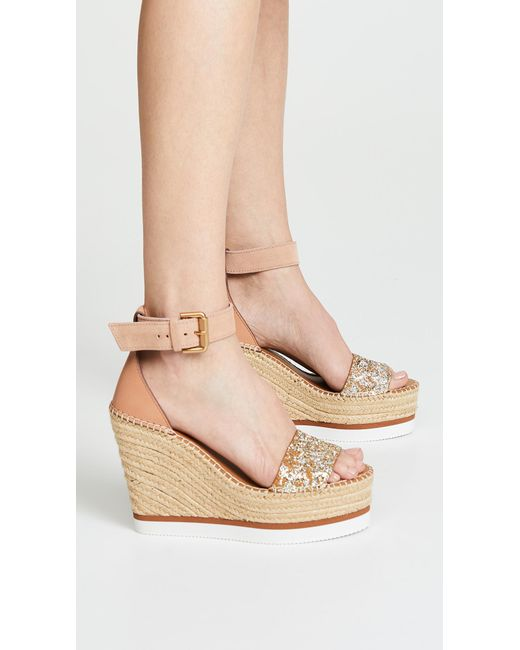 cef9c3f43e2 See By Chloé Glyn Wedge Espadrilles in Natural - Lyst
