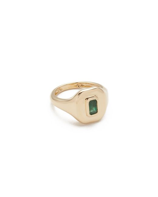 SHAY - Metallic 18k Gold Baguette Essential Pinky Ring - Lyst
