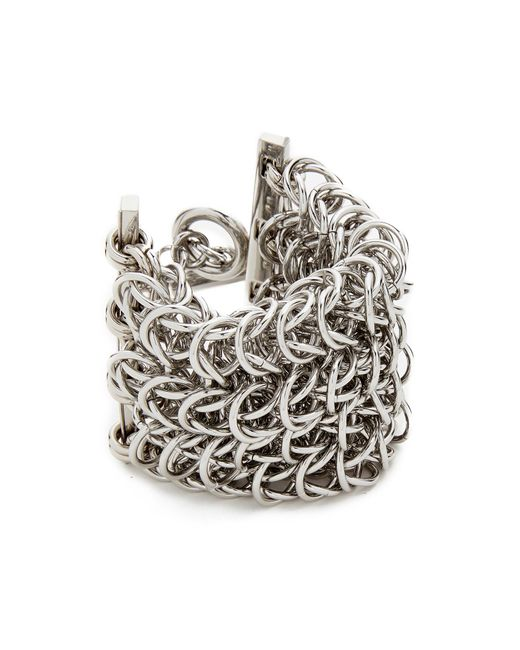 Alexander Wang | Metallic 4 Row Box Chain Bracelet | Lyst