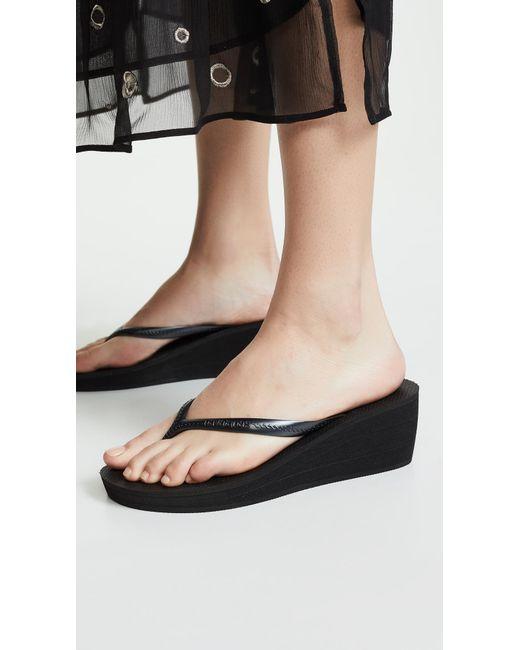 Havaianas High Fashion Wedge Flip Flops In Metallic - Lyst-5375