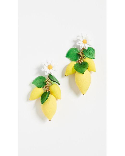 Elizabeth Cole - Yellow Thaddea Earrings - Lyst