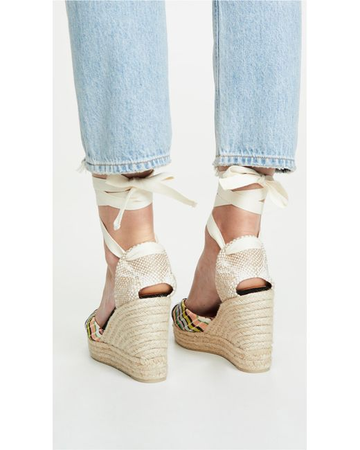 85e8de7b811 X Missoni Women's Carina Ankle - Tie Platform Wedge Espadrille Sandals