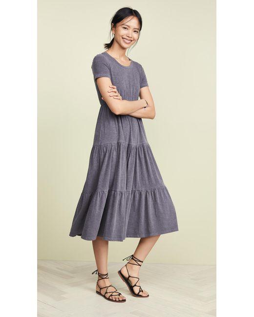 c6a08bf1d9e9a Sundry - Blue Peasant Midi Dress - Lyst ...