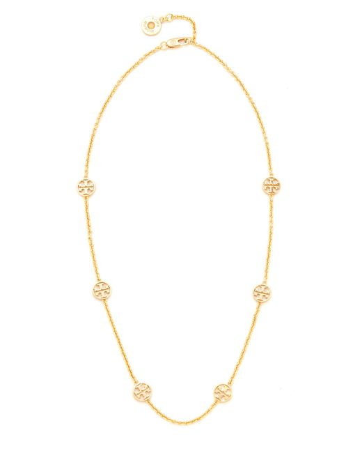 Tory Burch | Metallic Delicate Logo Necklace | Lyst